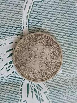 1882 Victoria Empress Coin