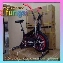 sepeda olah raga platinum bike alat fitnes sepeda statis bergaransi