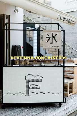 Booth Container/ semi container/ container custom Container restoran,,