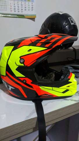 Helm Kyt Cross Over Motif Red Super Fluo