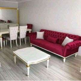 set sofa keluarga plus meja mkan