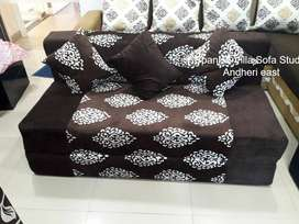 Sofa cum bed basic light color and good design in fabric