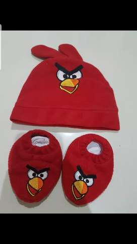 Sepatu n Topi Bayi AngryBird
