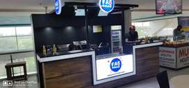 Food Kiosk bussiness inside mall for sale with brand name & reciepie