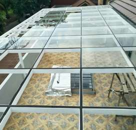 Kami bengkel las nerimah pemasangan kanopi kaca berkualitas $$2050