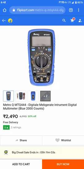 MeteroQ MTQ444 Multimeter new unused no scratch with display light.