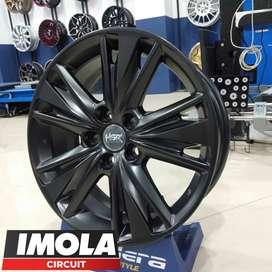 Velg mobil racing murah r17 HSR wheel baut 5x114,3 Black murah gresik
