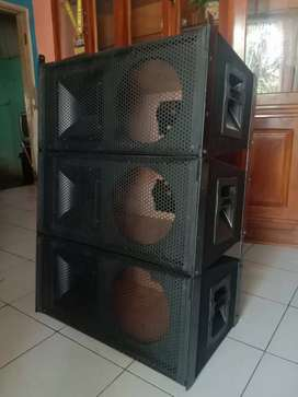 Box speaker line array 10+tweeter