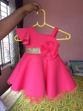 Set of  6 Partywear Dresses for 18 to 36 months girl