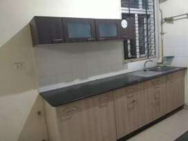Semi furnished 2BHK corner flat for rent