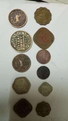 Indian old copper coins anna