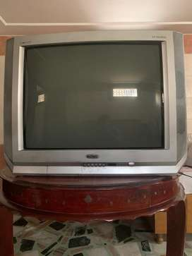 Onida color TV with woofer.