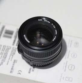 Lensa Minolta MD 50mm f1.4 manual fix