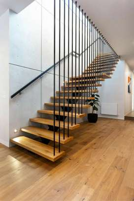 Modern Staircase | Wrought Iron Gate | Iron Glass Door | Railing