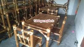 Kursi meja makan bambu tukubagus