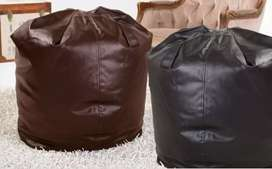 Leather bean bag large size