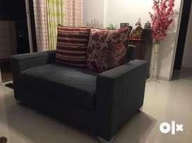 Cotton Fabric 3+2 Seater Sofa