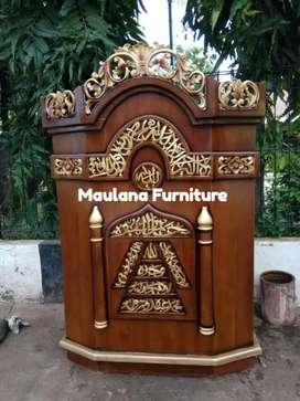 Mimbar masjid podium ready kirim