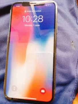 iPhone x 256 gb 10/10 condition Complete Saman With box