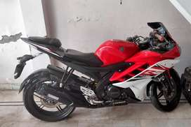 Red and black colour yamaha r15