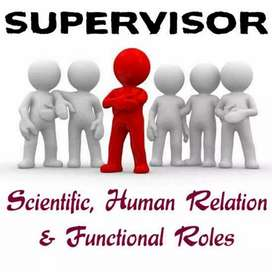 Jobs in supervisor and Storekeeper