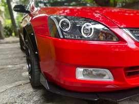 Honda Accord bumper lips abs plastic piano black