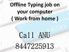 Computer typing work (Work from home)