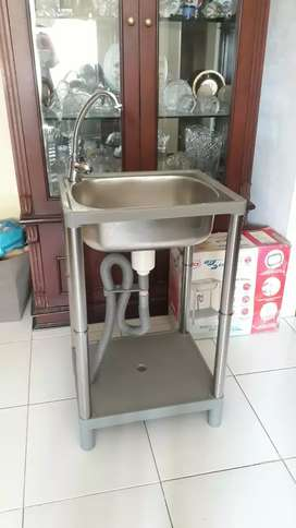 Portable sink wastafel kaki merk hock bekas bazar