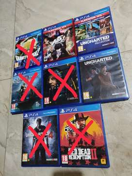 Ps4 games (used but new, no scratches)