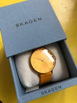 NEW* Skagen Aaren Kulor Yellow Silicone 36mm Watch