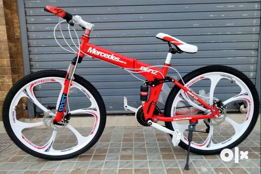 Mercedes-Benz Foldable Cycle: Dual Shock Absorbers Hybrid Cycle 26T 0