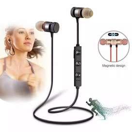 Headset Bluetooth magnetik Sepasang Baru