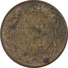 Old coin 1908 anna