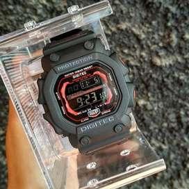 Jam Tangan Bergaransi Digitec Digital DG0662LB Cowok Garansi Bikin Ker