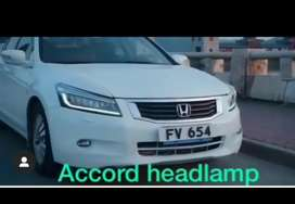 Honda Accord led headlamps made in Taiwan with all leds