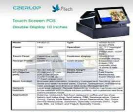 Touch Machine Billing Duel display for Tuck shop , Restaurants , bars