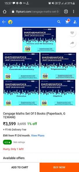 Cengage jee advance maths books set of 5 books with dpp