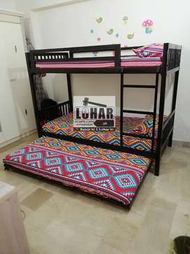 Iron Bunk bed with sliding bed (for 3 persons)