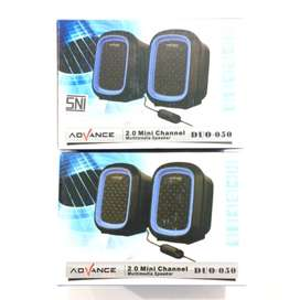 N E W Speaker ADVANCE duo-50 suara Enak Jernih untuk Laptop/PC/HP