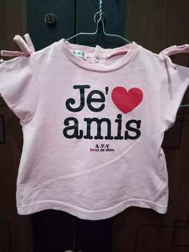 Kaos pink love amor