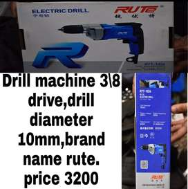 Drill machines and other electronic tools