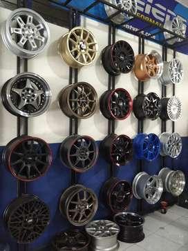 Velg mobil Hsr Ring 15 lebar rata & clong ready stock bisa pilih model