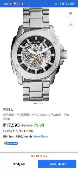 Fossil automatic watch, brand new , unused, box and warranty