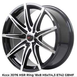 velg racing mobil mazda biante ring 18 HSR R18X8 pcd 5X114,3 ET 42