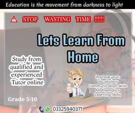 Online Education for Grade 5 to Matric