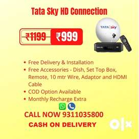 TATA SKY NEW HD CONNECTION WITH JUST RS 999/-