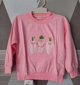 Sweater Switer Anak Motif Karakter Wortel Lucu