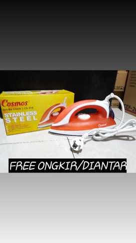 Delivery setrika listrik cosmos stainless steel strika/ setlika cis418