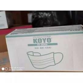 Masker sensi koyo 3ply minim order 1000 karton