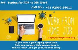 Genuine part time job. PDF TO MS WORD. Spend daily time 2 to 3 hours.